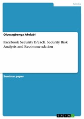 Facebook Security Breach. Security Risk Analysis and Recommendation